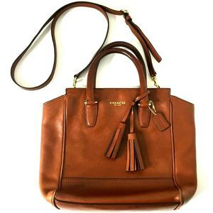 Coach Bag Troupe Cross Body Leather Brown